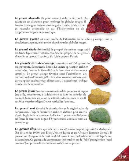 Page 219 livre la quintessence des pierres